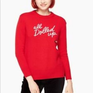 kate spade Sweaters - Kate Spade All Dolled Up Red Sweater XL